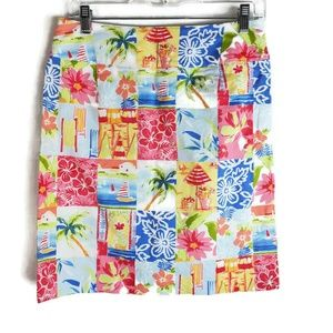 Talbots Hawaiian Themed Skirt